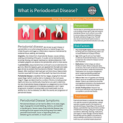 What is Periodontal Disease? Handouts